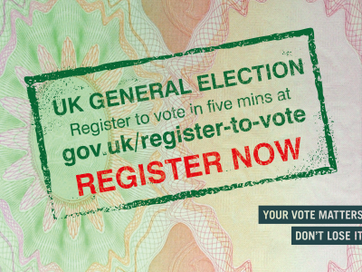 UK General Election: Register to Vote