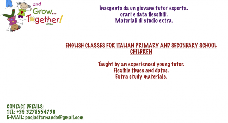 English classes from an experienced young tutor
