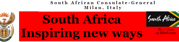 SOUTH AFRICA: INSPIRING NEW WAYS – (from NEWSLETTER 01/2019)
