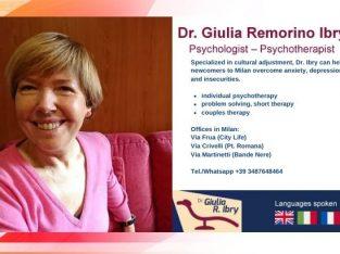 Dr. Giulia Remorino Ibry – Psychologist – Psychotherapist in Milan