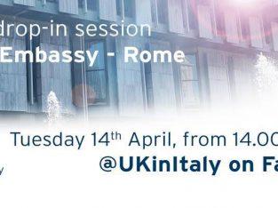 Virtual Drop-in Session – British Embassy Rome