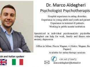 Dr. Marco Aldegheri – Psychologist Psychotherapist