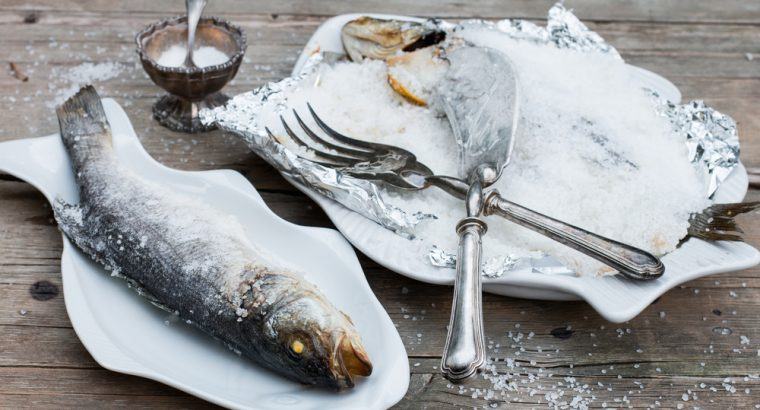 "Sea bass baked in a salt crust – ""Branzino al Sale"""