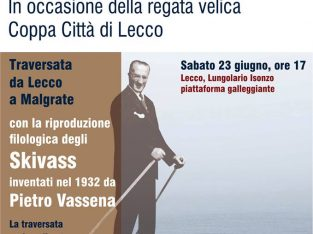 """""""Walk on the water with the Skivass"""" at Lecco"""