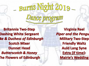 Burns Night -26 January 2019
