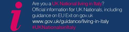 Q&A session healthcare/pensions for UK Nationals living in Italy – 15 July 2019 from 10.30 to 12.30 on Facebook