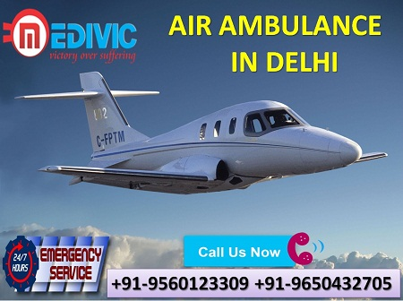 Medivic Aviation Air Ambulance in Delhi