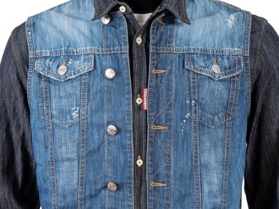 DSQUARED2 Men's Layered Denim Shirt S71DL0758 470
