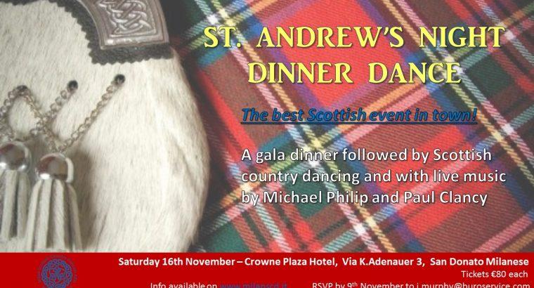 November 16, 2019 St. Andrew's Night Dinner Dance