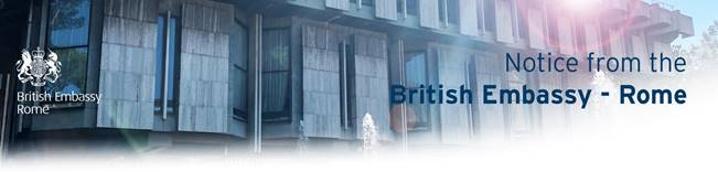 British Embassy Recommendations for Citizens Abroad