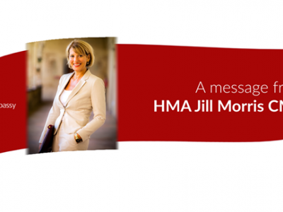 A MESSAGE FROM JILL MORRIS, HER MAJESTY'S AMBASSADOR British Embassy Rome
