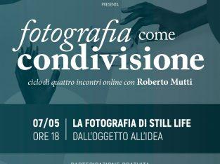 """April – May 2020: """"Fotografia come condivisione""""  ciclo di quattro lezioni online gratuite"""