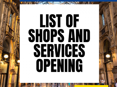 Lockdown Phase 2 – 4th May 2020: List of shops and services opening