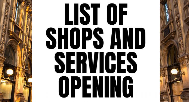 Italy Lockdown phase 2 shops