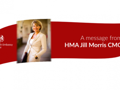 A message from Jill Morris, Her Majesty's Ambassador – British Embassy Rome