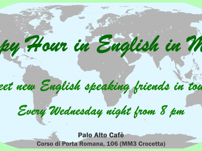 HAPPY HOUR IN ENGLISH IN MILAN
