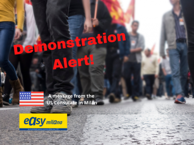 Demonstration Alert Milan April 16, 2021