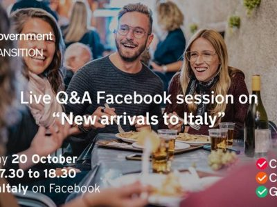 New Arrivals to Italy – Live Q&A Facebook