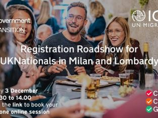 Registration Roadshow for UK Nationals in Milan and the Lombardy Region