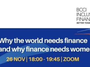 BCCI Inclusive Finance – Why the world needs finance and why finance needs women