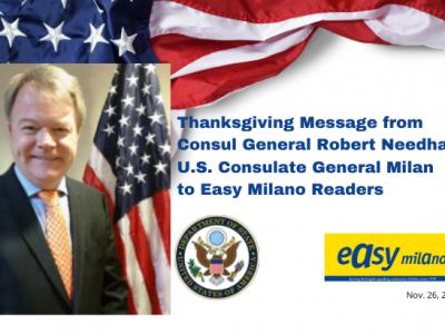 Thanksgiving Message from Robert S. Needham, U.S. Consul General in Milan November 2020