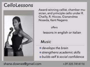Cello and chamber music lessons by Award Winning Cellist