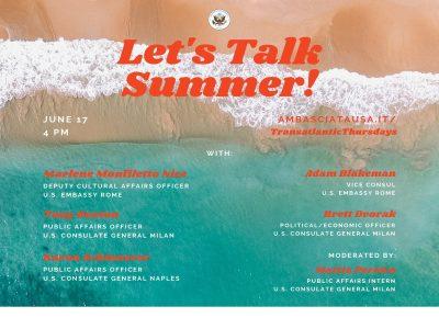 Transatlantic Thursdays with the U.S. Consulate Milan (back in September)