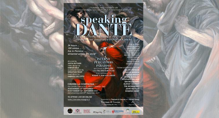 Speaking Dante Live & Streamed 24 Hour Reading in English (Sept.13-14, 2021)