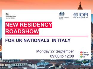 Residency Roadshow for UK Nationals Italy (Sept. 27, 2021)